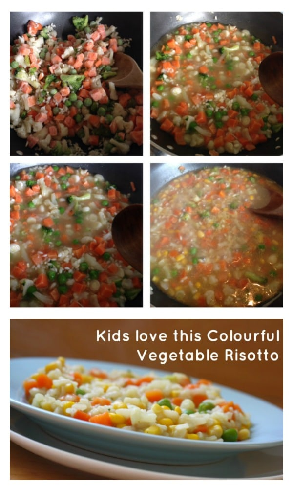 kids love this colourful vegetable risotto