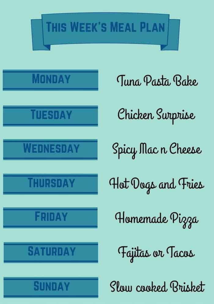 meal plan 25 Oct