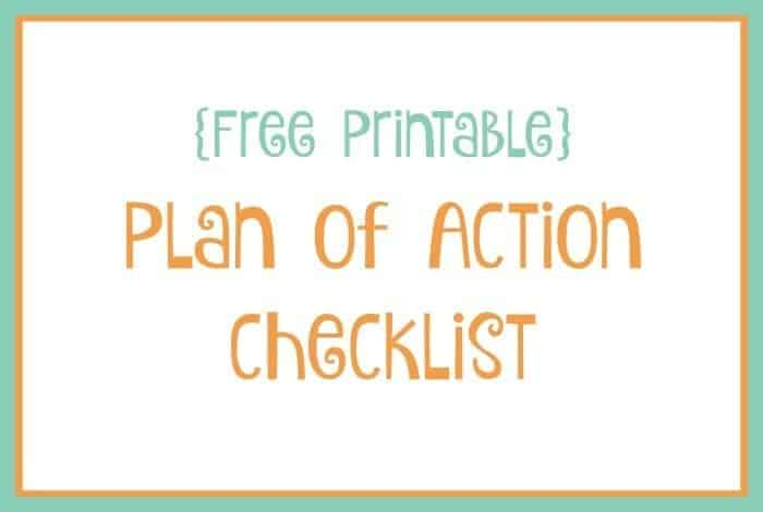 plan of action checklist