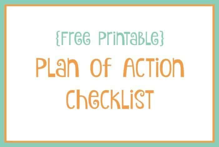plan of action checklist