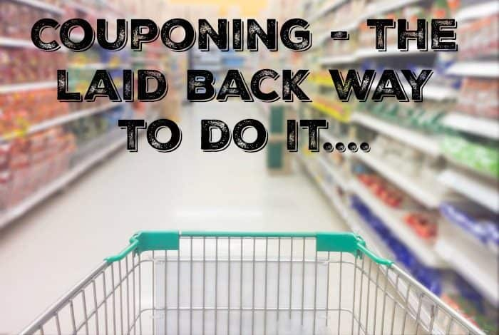 Couponing - the laid back way to do it....