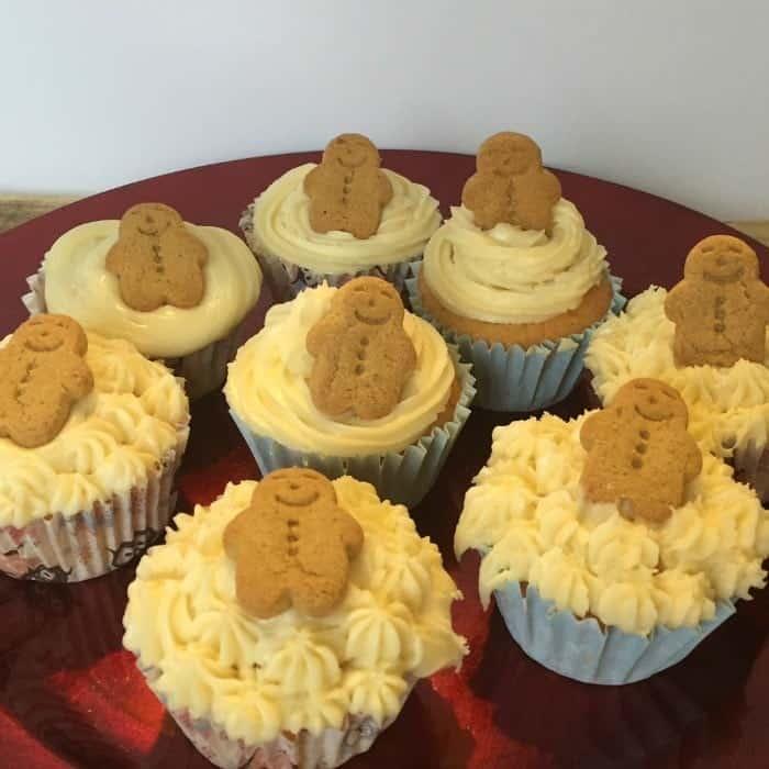 Gingerbreadmen lemon and ginger cupcakes