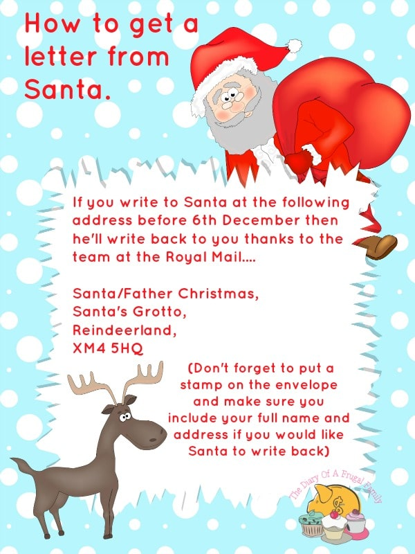 How to get a  letter from  Santa.