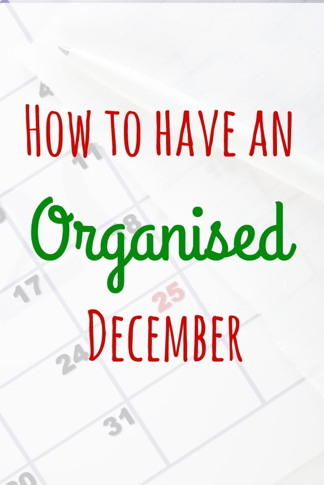 How to have an Organised December