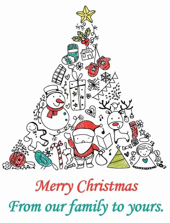 Merry Christmas From our family to yours.