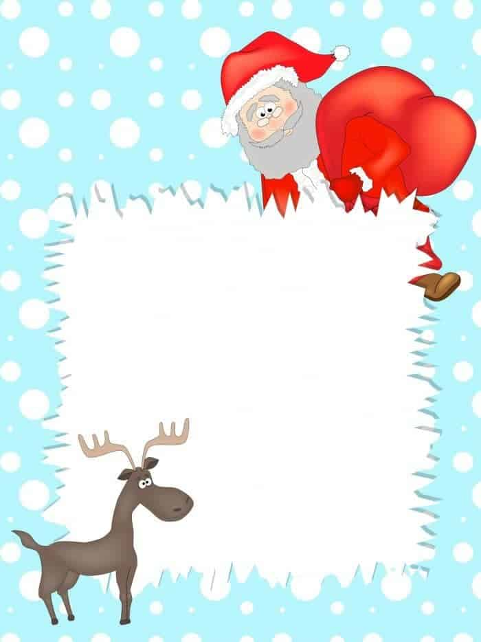 Refreshing image pertaining to letter from santa template printable