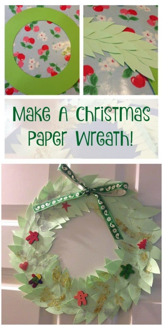 make a christmas paper wreath