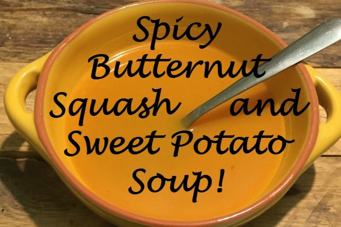 Spicy Butternut Squash and Sweet Potato Soup {Healthy, Delicious and great for Slimming World}....
