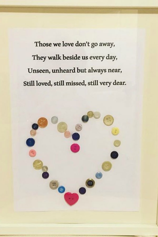 How we made beautiful wall art from some very special buttons....
