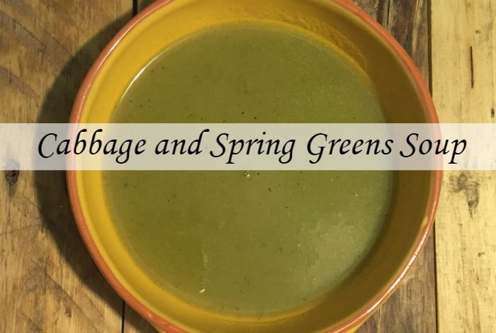 Cabbage and spring greens soup