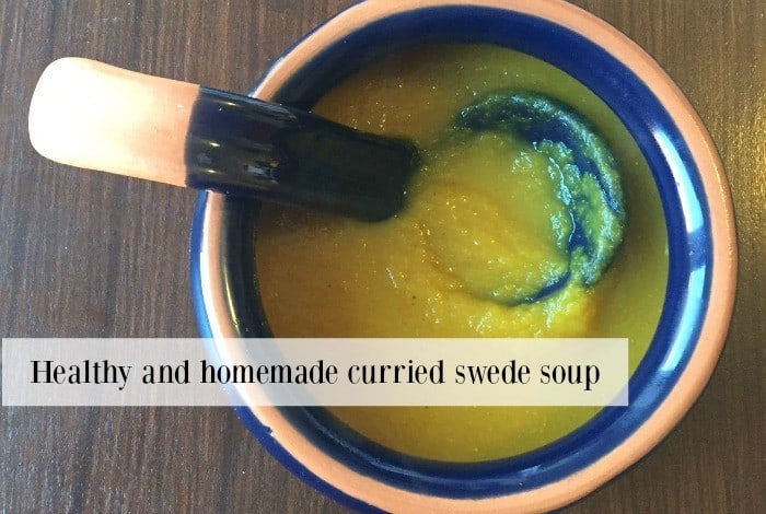 Healthy and homemade curried swede soup