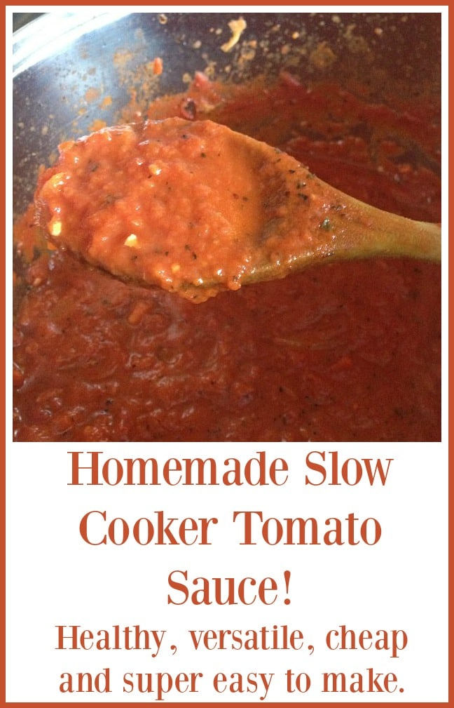 Homemade Slow Cooker Tomato Sauce! - healthy, versatile, cheap and super easy to make.