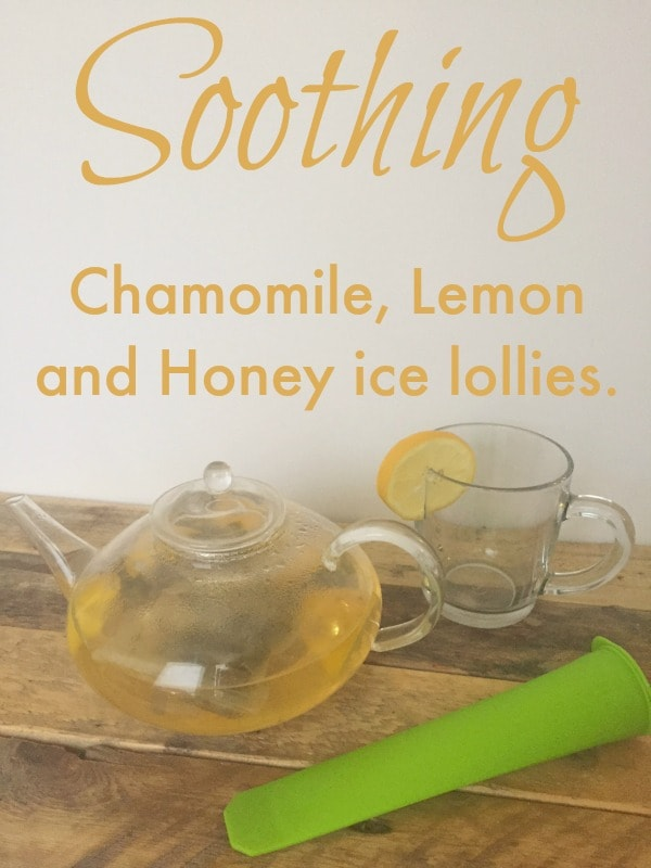 Soothing Chamomile, Lemon and Honey ice lollies.
