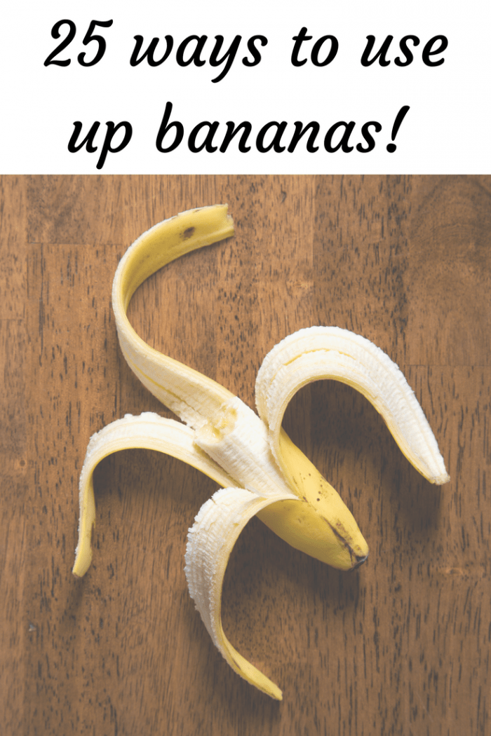 25 ways to use up bananas!