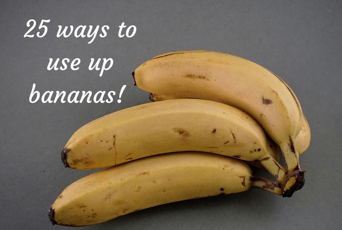 25 ways to use up bananas
