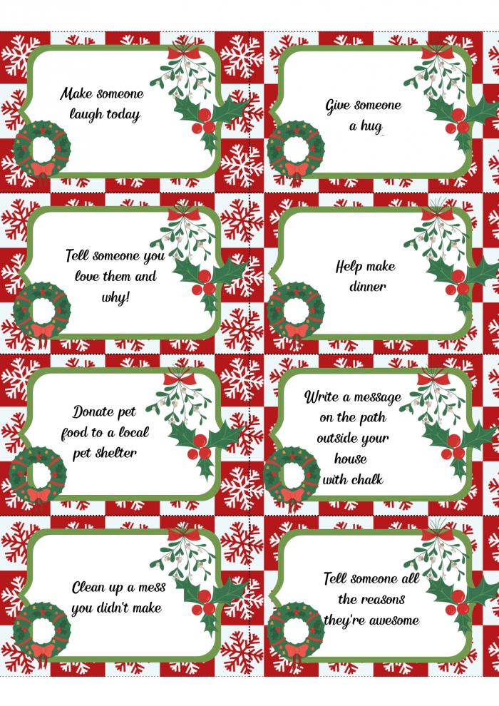 Christmas kindness cards