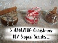 3 AMAZING Christmas DIY Sugar Scrubs....