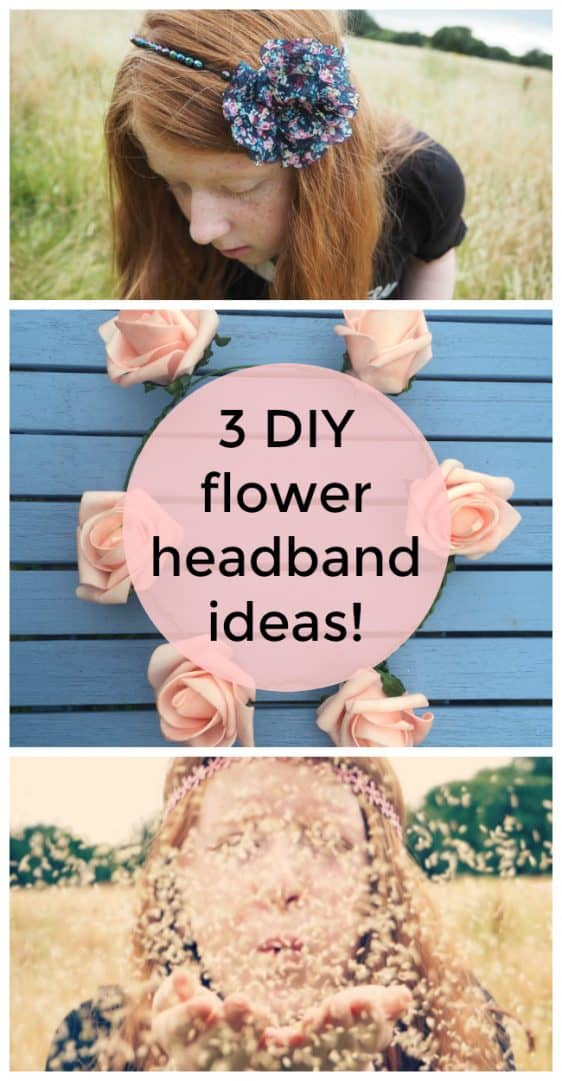 3 DIY flower headband ideas! Perfect for festivals or just for fun.