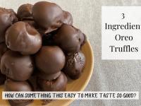 Three Ingredient Oreo Truffles....
