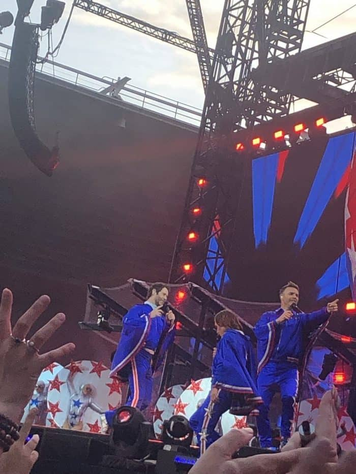 Take That at the Riverside Stadium