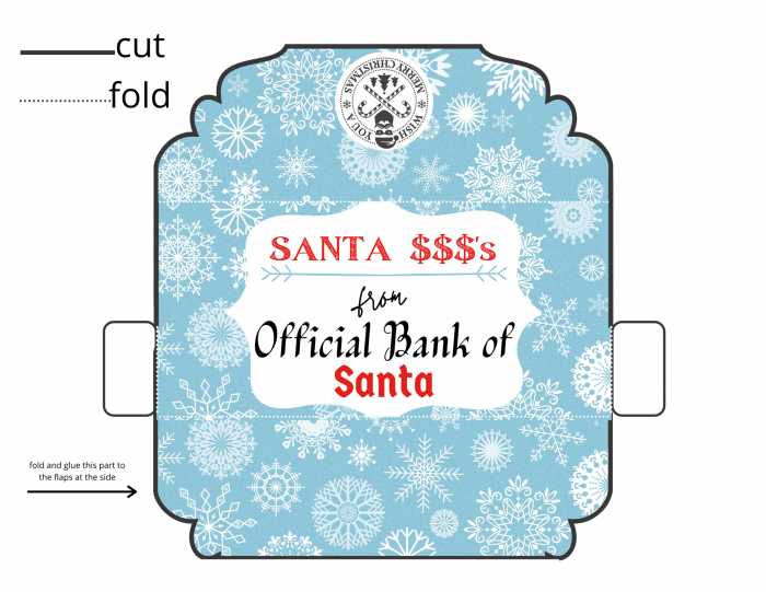 Christmas cash envelopes