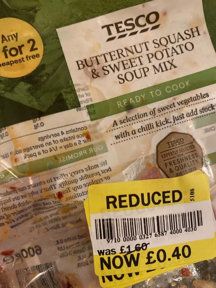 Reduced soup