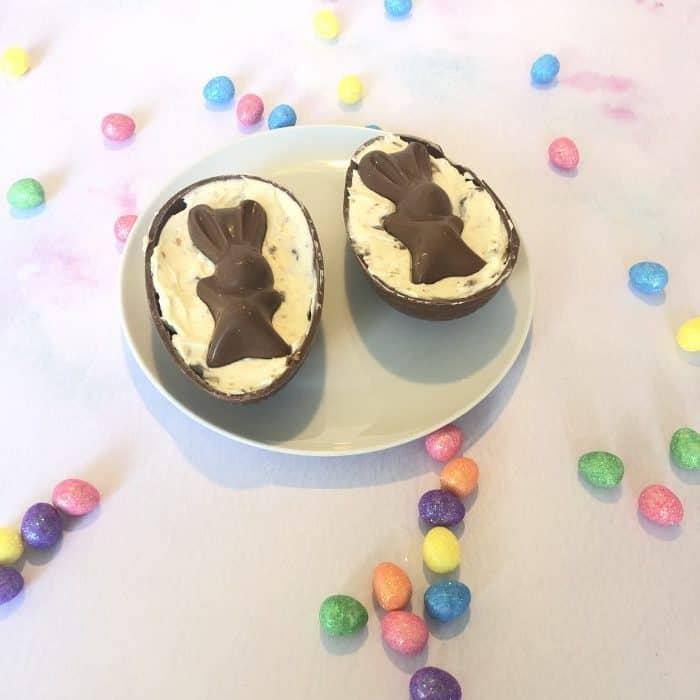 Chocolate Easter egg cheesecake!