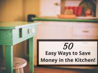 50 Common Sense tips to help you save money in the kitchen....