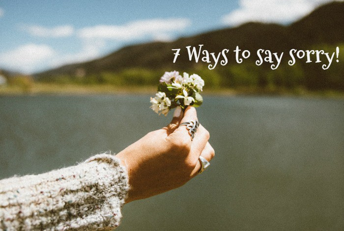 7 Ways to say sorry!