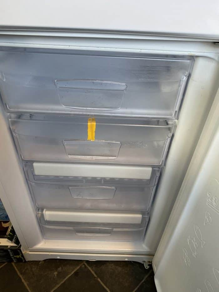 Defrosted fridge freezer