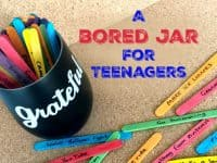 A bored jar for teenagers....
