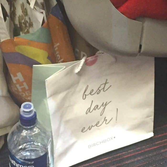 A girls trip to London - bags on the train