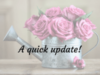 A quick update including one recovering teen and one celebrating teen....