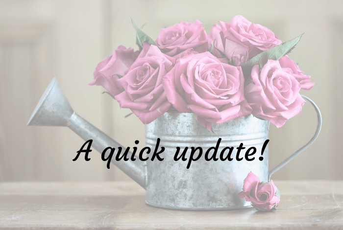 A quick update including one recovering teen and one celebrating teen