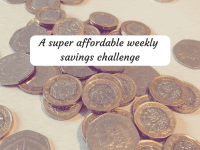 An affordable weekly savings challenge....