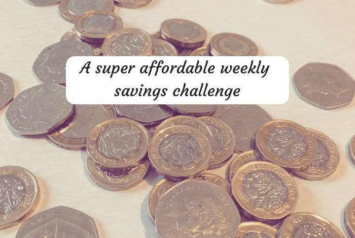 A super affordable weekly savings challenge