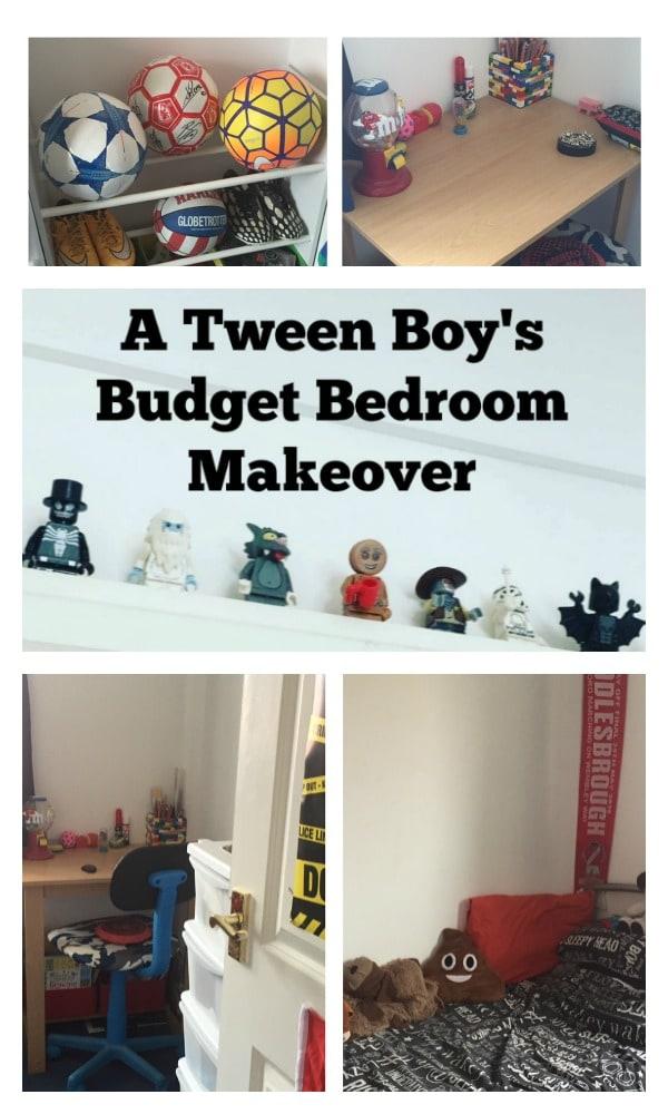 A tween boys budget bedroom makeover....