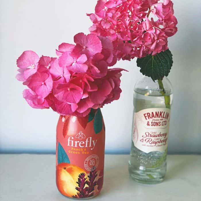 Cute little vases for my Hydrangea Bush flowers.