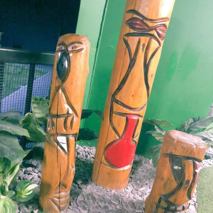 Aztec statues at Mini Golf