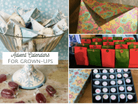 Homemade Advent Calendars for grown-ups....