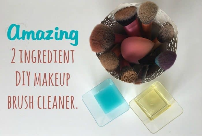Amazing 2 ingredient homemade makeup brush cleaner.