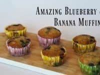 Homemade blueberry and banana muffins....