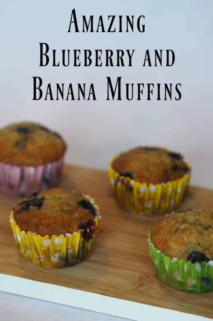 Amazing Blueberry and Banana Muffins