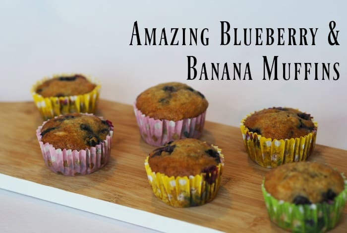 Amazing Blueberry and Banana Muffins