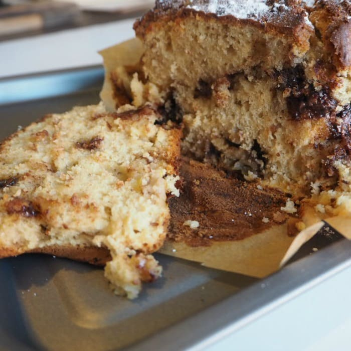 Amazing Chocolate Chip Banana Bread (with optional Nutella Swirls)