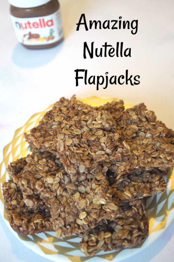 Amazing Nutella Flapjacks #worldNutelladay