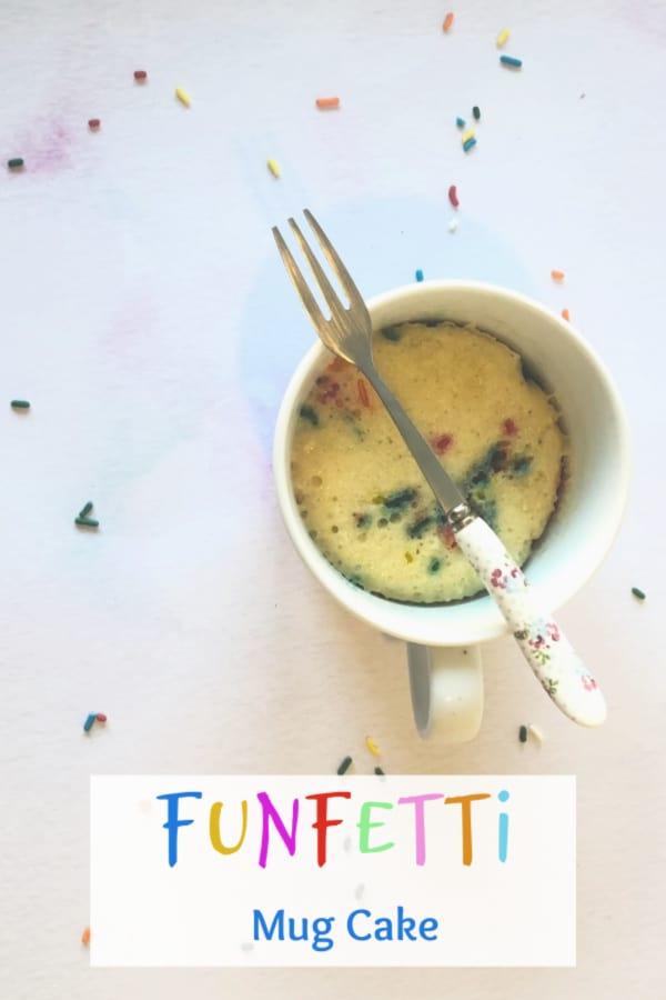 Amazing five minute funfetti mug cake...