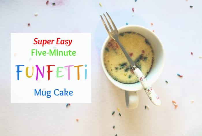 Amazing five minute funfetti mug cake