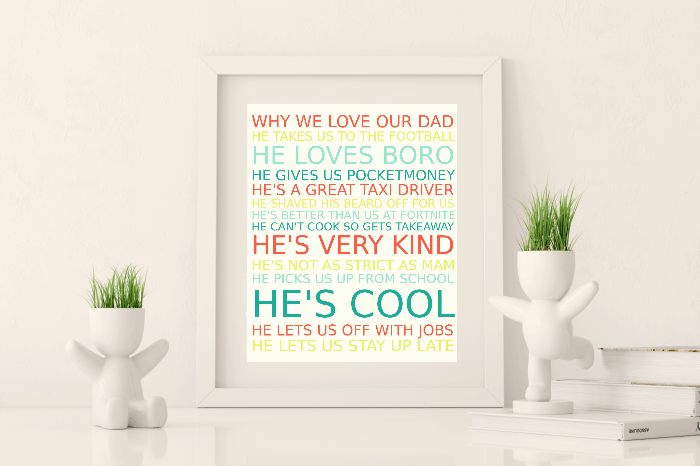 Amazing frugal and free Fathers Day Gift. #freeprintable #fathersday #frugalgift #homemadegift