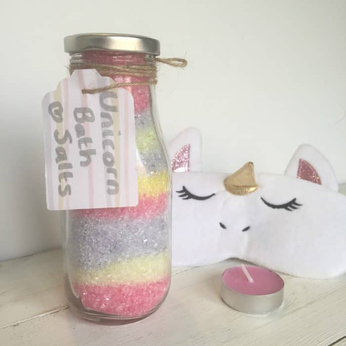 Amazing super cute homemade unicorn bath salts DIY